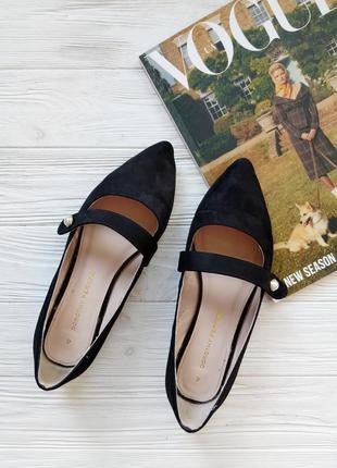 Лодочки туфли балетки черные