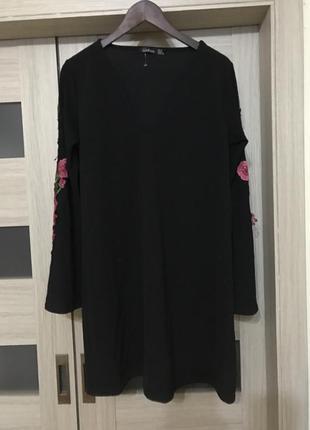 Стильное платье с вышивкой,  boohoo