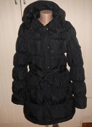 Пальто zara p.m (46-48) пуховое