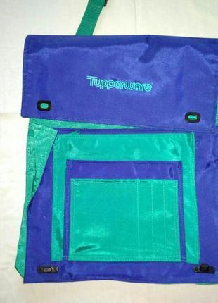 Фирменная, сине бирюзовая, очень вместительная, сумка, для ноутбука или для учебы