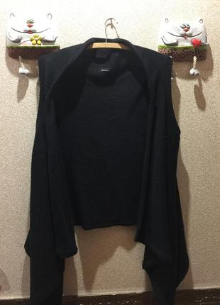 Вязанная жилетка#15