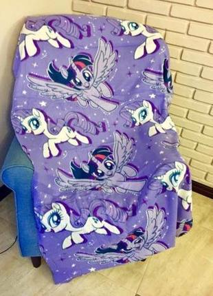 Детский флисовый плед искорка пони эквестрия 100х150 для девочки
