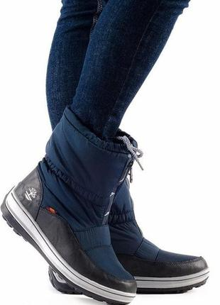 Дутики, сапоги, луноходы, ботинки темно-синего цвета 36 39 40