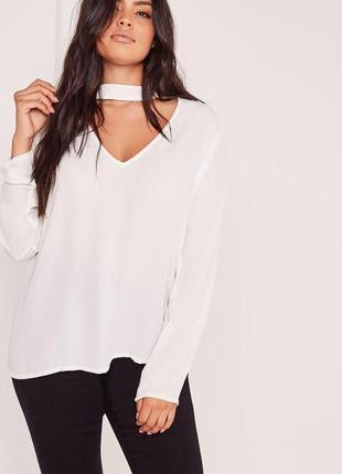 Блуза с чокером missguided