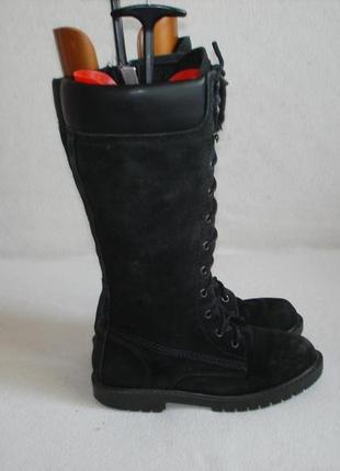 Сапоги на шнуровке кожаные бренд bertie