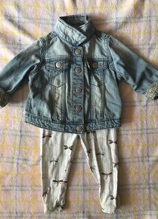 Джинсовая курточка на девочку next 9-12 мес