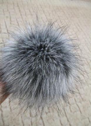 Пушистый помпон на весь сезон - помпон меховой под чернобурку   высокого качества