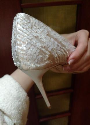 Туфли vince camuto свадебные белые вечерние