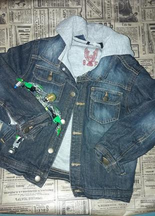 Куртка-пиджак джинсовый cherokee на мальчика 6-7 лет