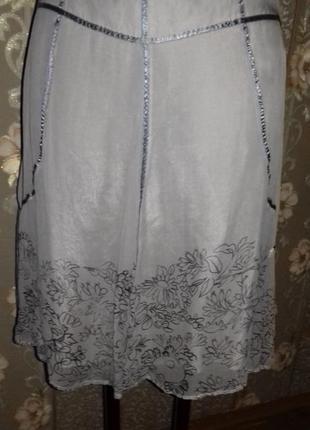 Нежная шелковая юбка