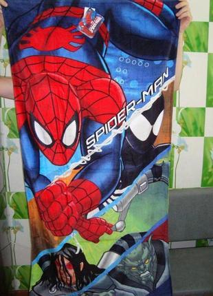 Пляжное полотенце человек паук spider man