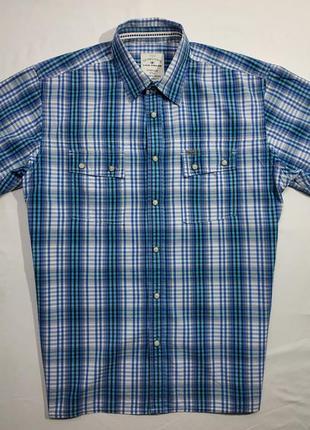 Брендовая мужская тенниска рубашка tom tailor на кнопках