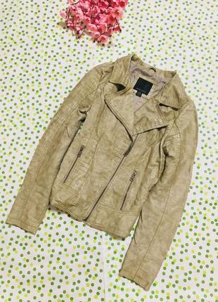 Куртка - косуха amisu лакированая / куртка под кожу питона