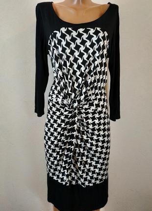 Стильное  актуальное платье миди из натуральной ткани