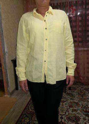 Рубашка лён max mara