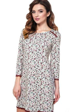 """Стильное домашнее платье, ночная рубашка s,m,l серия """"цветы"""" от ellen."""