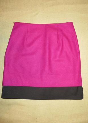 Теплая брендовая яркая шерстяная юбка monton