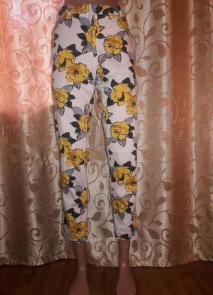 Стильные укороченные брюки, штаны zara basic