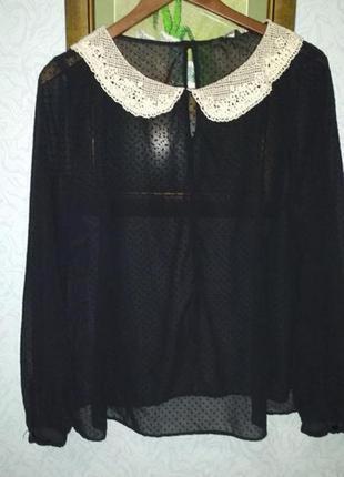 Блуза  с воротничком под винтаж