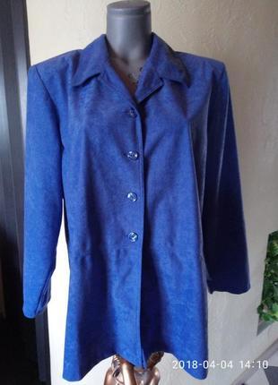 Акция!daxon легкая велюровая куртка,жакет без подкладки,батал 50-52