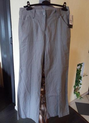 Лен котон,новые брюки-кюлоты 44-46 р