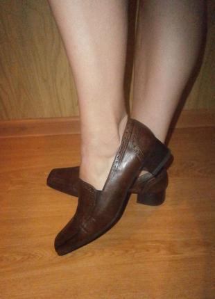Закрытые туфли/нат.кожа/низкий ход/27 см