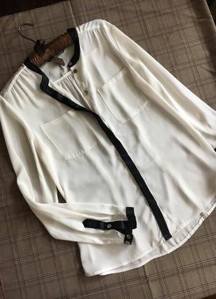 H&m блуза белая m