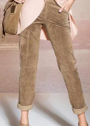 Замшевые брюки arizona цвета camel верблюд
