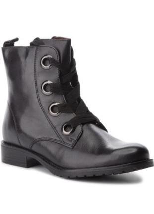 Кожаные демисезонные ботинки ботильоны lasocki