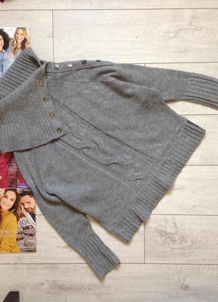 Теплющий свитер под горло /50% шерсти