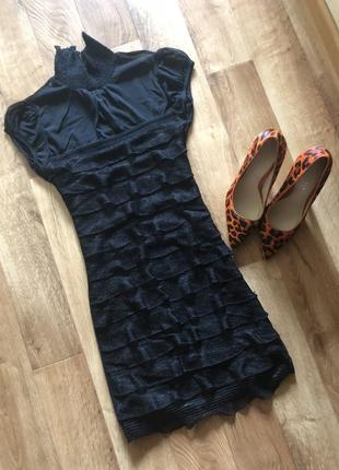 Маленькое чёрное платье платье мини вечернее платье