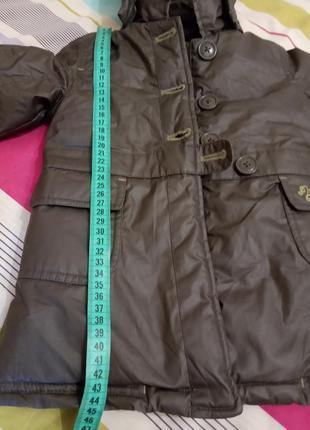 Пальто куртка плащевка для девочки р. 74-80 демисенная