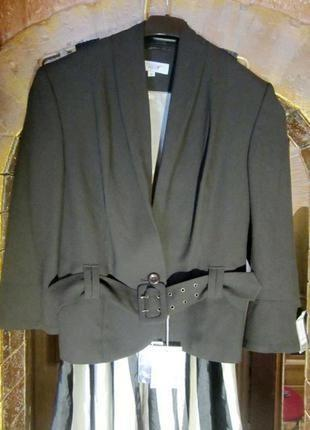 Новый с бирками жакет пиджак с поясом вискоза от next