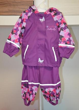 Непромокаемый костюм-дождевик lupilu 1.5-2 года