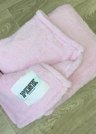 Мягкий плед от victoria's secret pink