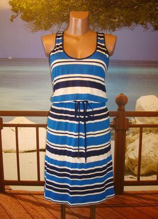 Lindex платье\сарафан в полоску р.8