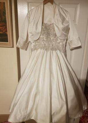 Короткое свадебное,выпускное дизайнерское платье