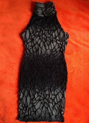 Эксклюзивное платье омбре с открытой спинкой