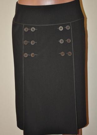 Классическая юбка коричневая