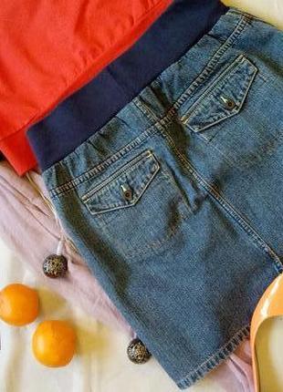 Классная джинсовая юбка на резинке blooming marvellous
