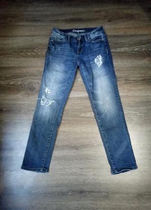 Укороченные рваные джинсы aeropostale, бриджи в отличном состоянии