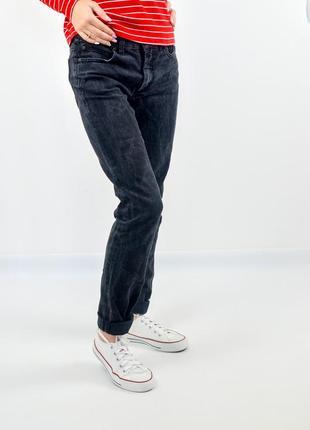 Acne черные джинсы с серым узором паутинкой на классической талии  28/34