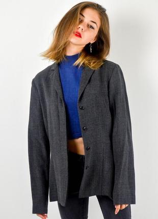 Calvin klein строгий серый блейзер с добавлением льна, пиджак, жакет