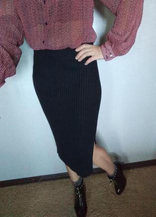 Стильная юбочка миди в рубчик от tom tailor