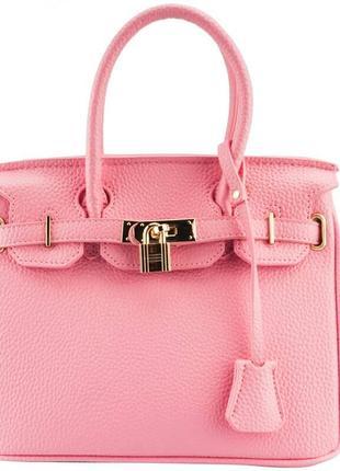 Абалденная нежно-розовая кожаная сумка jasper conran
