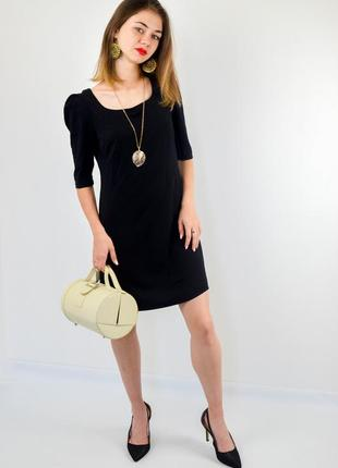 Asos черное мини платье а-силуета с коротки рукавом