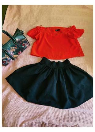 Стильная черная юбочка + сумка accessories