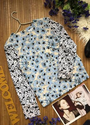 Шикарная блуза  свитшот новая в ромашки