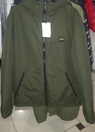 Стильная качественная мужская деми куртка pull&bear - л - на м - можно до -5
