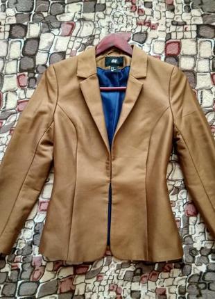 Пиджак жакет светло-коричневый